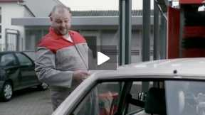 Funny commercial. You won't get the Toyota Driver out of his car.