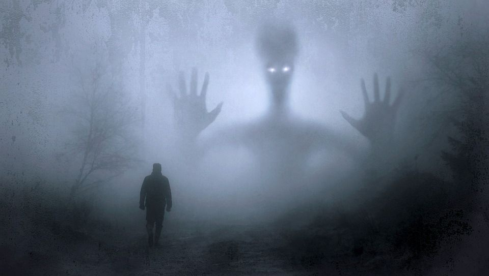 Alien and man image