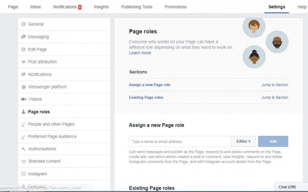 settings_of_facebook_page