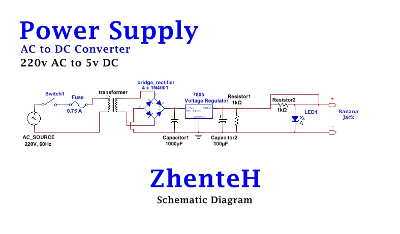 How To: Build A Simple Power Supply (AC to DC converter) Ac To Dc Power Supply Schematic Diagram on