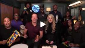 Jimmy Fallon, Meghan Trainor & The Roots Sing -All About That Bass- (w- Classroom Instruments)