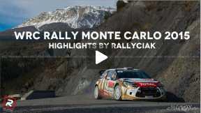 WRC Rally Monte Carlo 2015 - Highlights