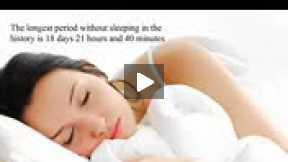 Amazing facts about sleeping