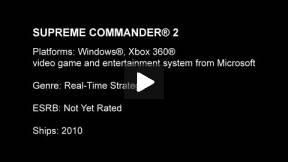 Supreme Commander 2 Trailer
