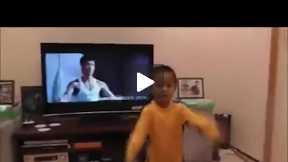 Is this kid Bruce Lee's reincarnation ?