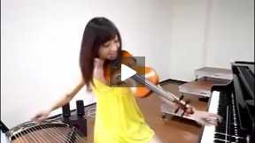 The girl is not wearing pants extreme pull Violin