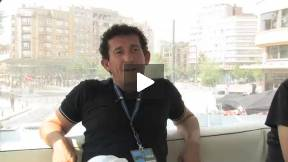 Claudio Casadio and Simone Bachini, actor and producer ofL'Uomo che verrà