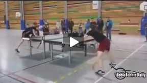 What a talent of this table tennis technique.