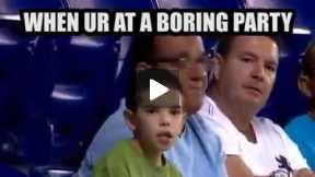 Very funny action of this kid