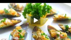 How to Make Baked Mussels with Cheese and Garlic