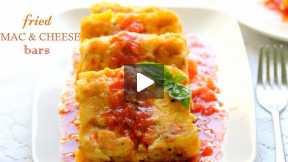 How to Make Fried Mac and Cheese Bars with Marinara Sauce
