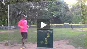 Robbing a Wiffle Ball Homerun