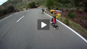 Downhill Skateboaring in Spain