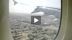 Emirates A380 Landing in Dubai Int Airport