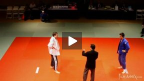 Grabisch (GER) vs Perrault (CAN),NY Open Judo 2011 Team Championship, second round.