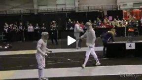 NCAA Fencing 2011 - Men's Sabre Semi-final Bout: Homer SJU v Prochniak UPENN