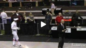 NCAA Fencing 2011 - Men's Epee Semi-final Bout: Yergler PRIN v Canevari OSU