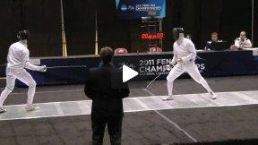 NCAA Fencing 2011 - Men's Epee Gold Medal Bout: Israelian SJU v Yergler PRIN