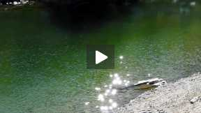 Sparkling Sunlight on the Green Waters of Gruensee