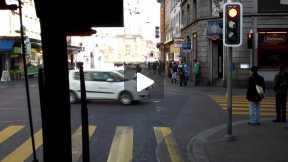 Trolleybus ride through Zurich