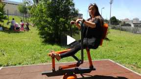 Exercises at the park