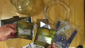 Homebrew beer brewing kit unboxing