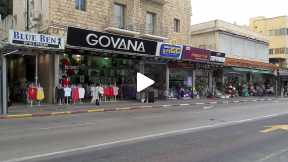 Small shops in Herzl Street in Haifa
