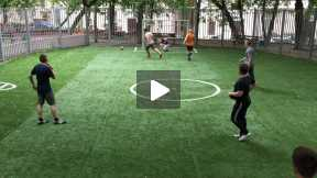 Local Football Match in Moscow Russia