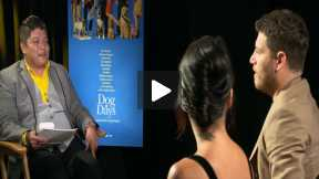"Vanessa Hudgens and Adam Pally Interview for ""Dog Days"""