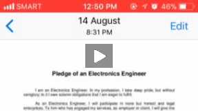 Pledge of an electronics Engineer
