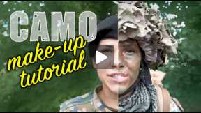 Camouflage make-up tutorial