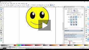 Using Inkscape to create a simple smiley