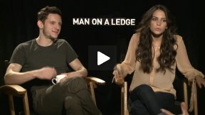 Jamie Bell and Genesis Rodriguez Talk About MAN ON A LEDGE!  I Love Them!