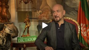 """Sir Ben Kingsley Talks """"The Dictator,"""" Jokes He Was Blackmailed to Join the Movie"""
