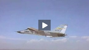 F-111 TACT Flight Over the Mojave Desert