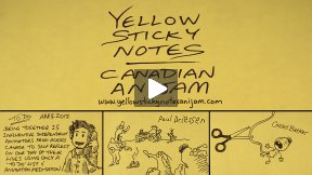 Jeff Chiba Stearns on Yellow Sticky Notes | Canadian Anijam