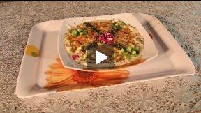 Food in Afghanistan - Cuckoo Cake in Afghan Kitchen
