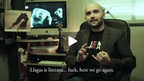 What is Llagas? Funny blooper at an interview with spanish independent filmmaker Miguel Angel Font Bisier
