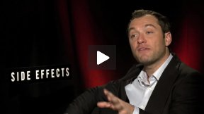 """My Fun Interview with Jude Law for """"Side Effects"""" – What Makes Him Happy?"""