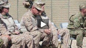 Georgian Liaison Marines Honor Staff Sgt Davis