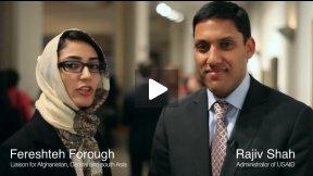دکتر راجیو شاه، مدیر اجرایی یو اس اید در مورد تحصیلات، اقتصاد و به قدرت رساندن زنان افغان در دانشگاه آمریکایی افغانستان