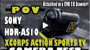 Xcorps Action Sports TV Tests SONY HDR AS10 Camera