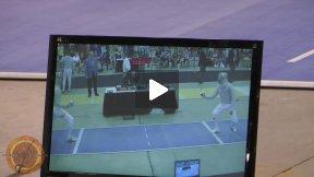 Chicago 2012 - L16 - Kim KOR v Szabo GER (Partial)