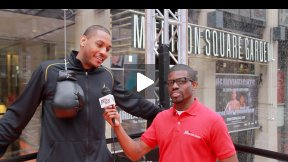 Carmelo Anthony Boxing Training at Madison Square Garden! - Do More with Degree Men!