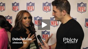 Deborah Cox at Back-To-Football Fashion Presentation w NFL and Vogue