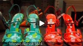 LONDON FASHION WEEK MANOLO BLAHNIK SPRING SUMMER 2014 FASHION SHOW #LFW