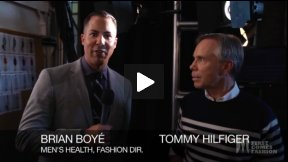First Comes Fashion: Designer Tommy Hilfiger Interviewed Backstage by Brian Boyé, Fashion Director of Men's Health