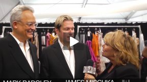 first Comes Fashion: Designers Mark Badgley & James Mischka Interviewed Backstage by Judy Licht