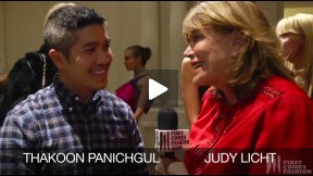 First Comes Fashion: Designer Thakoon Panichgul Interviewed Backstage by Judy Licht