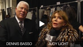 First Comes Fashion: Designer Dennis Basso Interviewed Backstage by Judy Licht